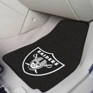 Las Vegas Raiders 2-Piece Carpet Car Mats
