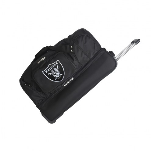 "Oakland Raiders 27"" Drop Bottom Wheeled Duffle Bag"