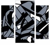 Oakland Raiders 3 Piece Wall Art