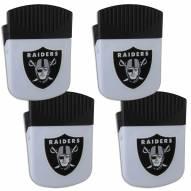 Las Vegas Raiders 4 Pack Chip Clip Magnet with Bottle Opener