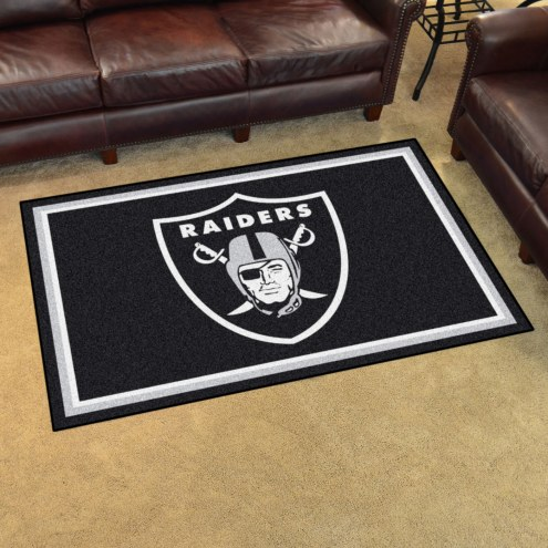 Oakland Raiders 4' x 6' Area Rug