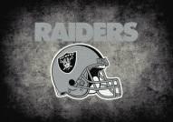 Oakland Raiders 4' x 6' NFL Distressed Area Rug
