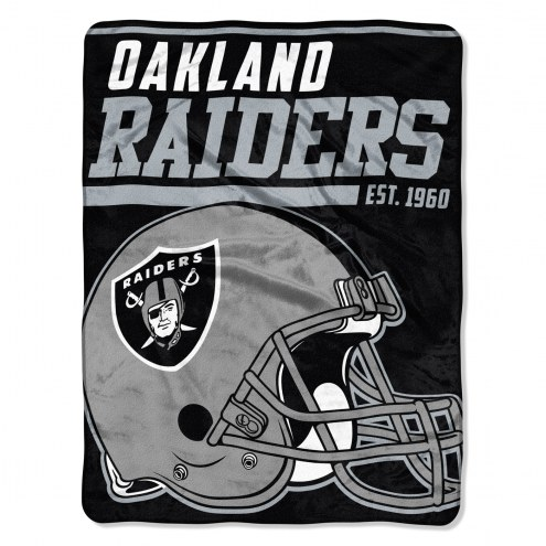 Oakland Raiders 40 Yard Dash Blanket