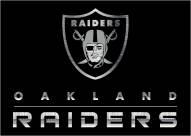 Oakland Raiders 8' x 11' NFL Chrome Area Rug
