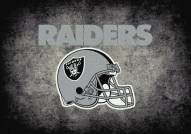 Las Vegas Raiders 8' x 11' NFL Distressed Area Rug