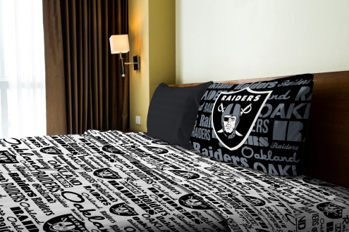 Oakland Raiders Anthem Twin Bed Sheets