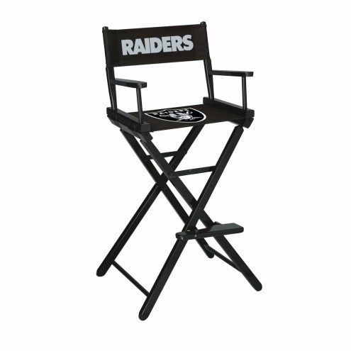 Oakland Raiders Bar Height Director's Chair