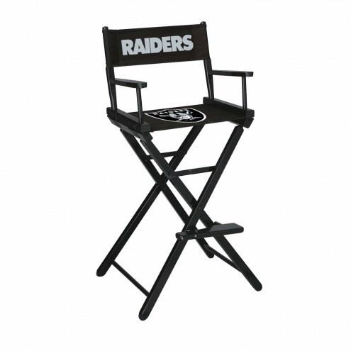Oakland Raiders Bar Height Director's Chair