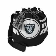 Las Vegas Raiders Black Ripple Drawstring Bucket Bag