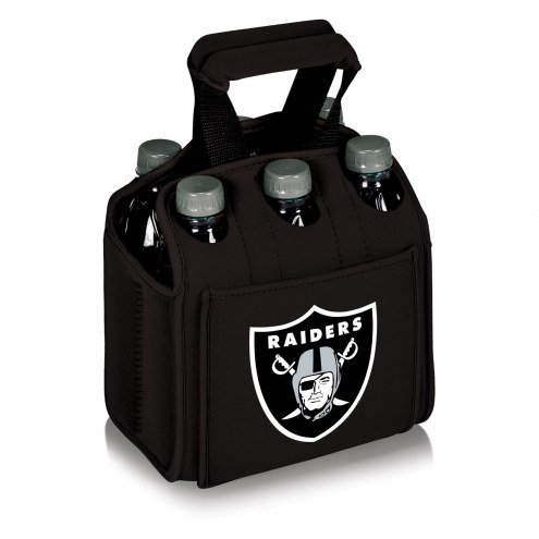 Oakland Raiders Black Six Pack Cooler Tote