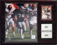 "Oakland Raiders Bo Jackson 12 x 15"" Player Plaque"