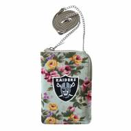Las Vegas Raiders Canvas Floral Smart Purse
