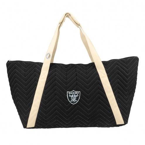 Las Vegas Raiders Chevron Stitch Weekender Bag