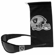 Las Vegas Raiders Chrome Wrap Sunglasses & Bag