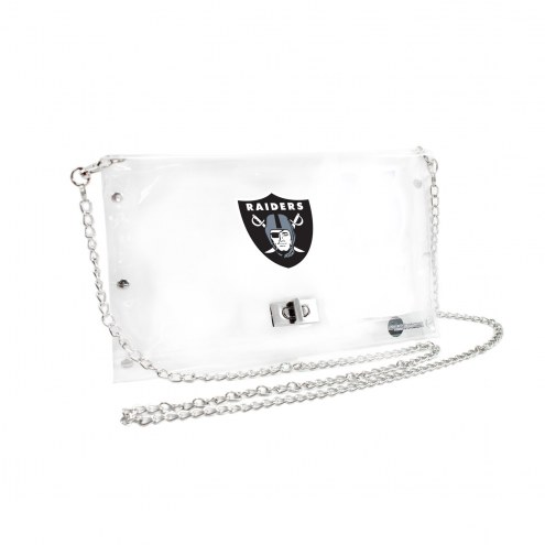 Oakland Raiders Clear Envelope Purse