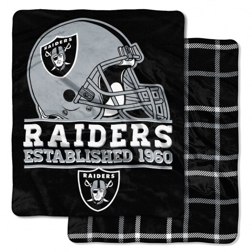 Oakland Raiders Cloud Throw Blanket