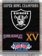 Oakland Raiders Commemorative Throw Blanket