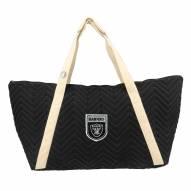 Las Vegas Raiders Crest Chevron Weekender Bag