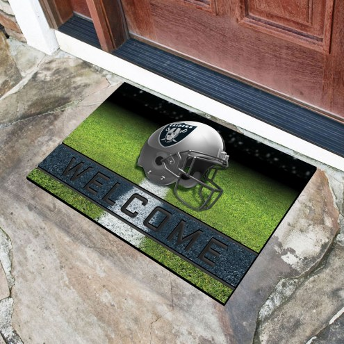 Oakland Raiders Crumb Rubber Door Mat