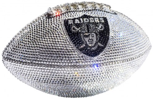 Oakland Raiders Swarovski Crystal Football