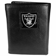 Las Vegas Raiders Deluxe Leather Tri-fold Wallet in Gift Box