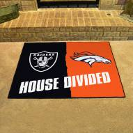Las Vegas Raiders/Denver Broncos House Divided Mat