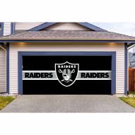 Las Vegas Raiders Double Garage Door Cover
