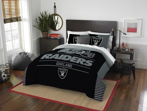 Oakland Raiders Draft Full/Queen Comforter Set