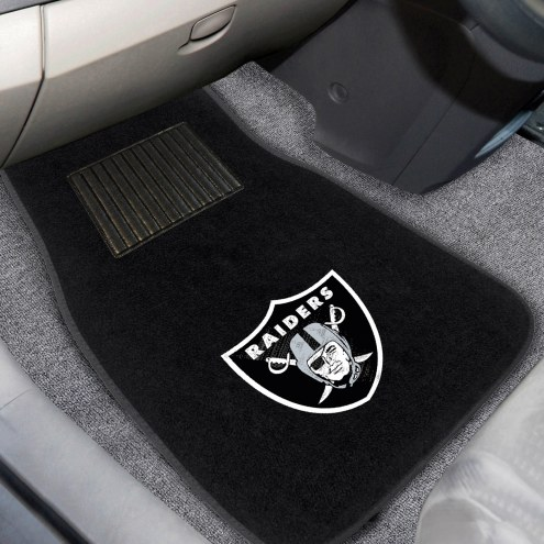 Oakland Raiders Embroidered Car Mats