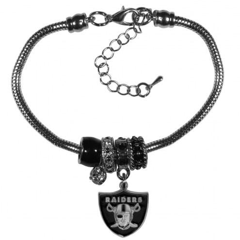 Las Vegas Raiders Euro Bead Bracelet