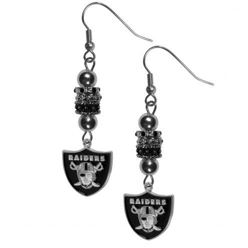 Las Vegas Raiders Euro Bead Earrings