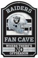 Oakland Raiders Fan Cave Wood Sign