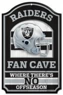 Las Vegas Raiders Fan Cave Wood Sign