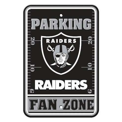 Oakland Raiders Fan Zone Parking Sign