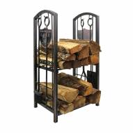 Las Vegas Raiders Fireplace Wood Holder & Tool Set
