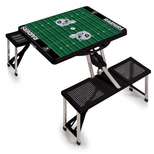 Oakland Raiders Folding Picnic Table