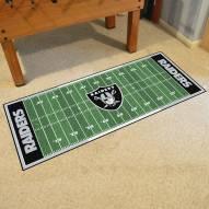Oakland Raiders Football Field Runner Rug