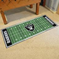 Las Vegas Raiders Football Field Runner Rug