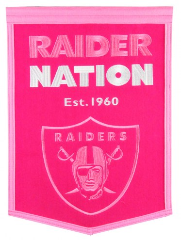 Oakland Raiders Football for Her Banner