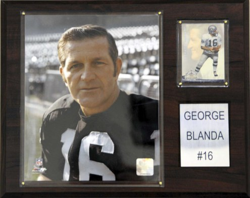 "Oakland Raiders George Blanda 12 x 15"" Player Plaque"