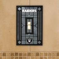 Oakland Raiders Glass Single Light Switch Plate Cover