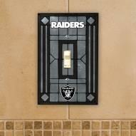 Las Vegas Raiders Glass Single Light Switch Plate Cover