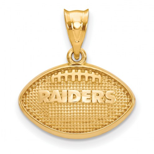 Las Vegas Raiders Gold Plated Football Pendant
