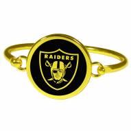 Las Vegas Raiders Gold Tone Bangle Bracelet