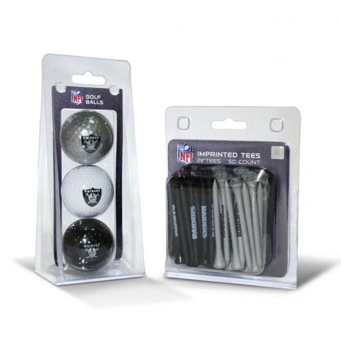 Oakland Raiders Golf Ball & Tee Pack