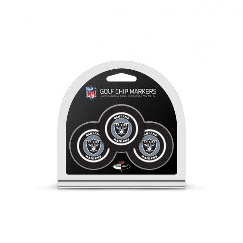 Oakland Raiders Golf Chip Ball Markers