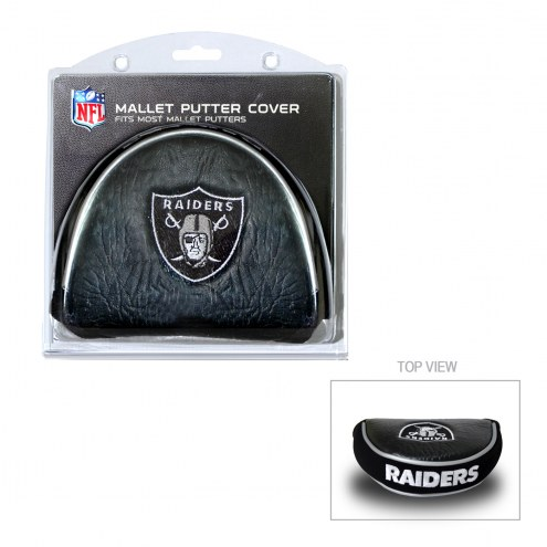Las Vegas Raiders Golf Mallet Putter Cover