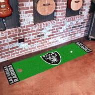 Las Vegas Raiders Golf Putting Green Mat