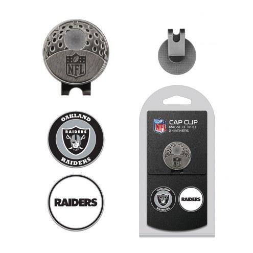 Oakland Raiders Hat Clip & Marker Set