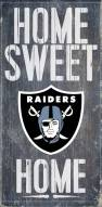 Oakland Raiders Home Sweet Home Wood Sign